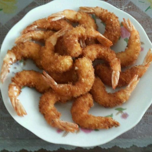 小米冰的凤尾虾做法的学习成果照
