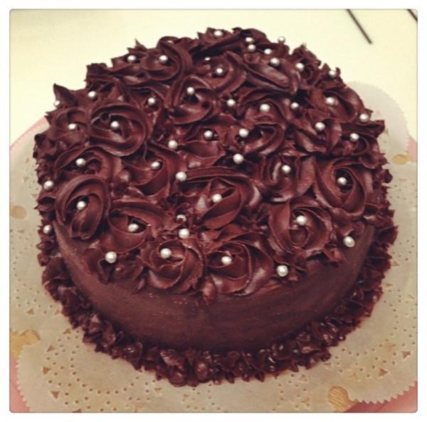 lili爱烘焙做的巧克力蛋糕的做法