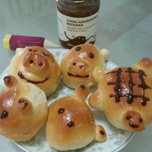 hao爱dai做的动物卡通面包的做法