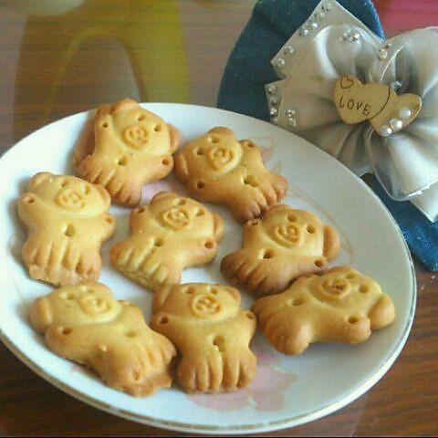 兔兔暧布丁做的动物曲奇饼干的做法