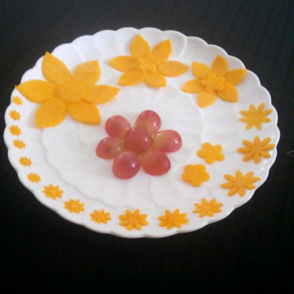 水果拼盘花图片