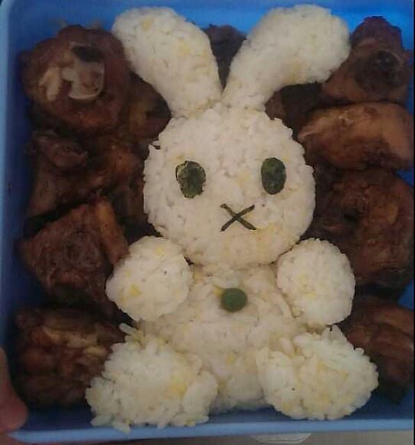 米菲兔(miffy)可爱便当的做法