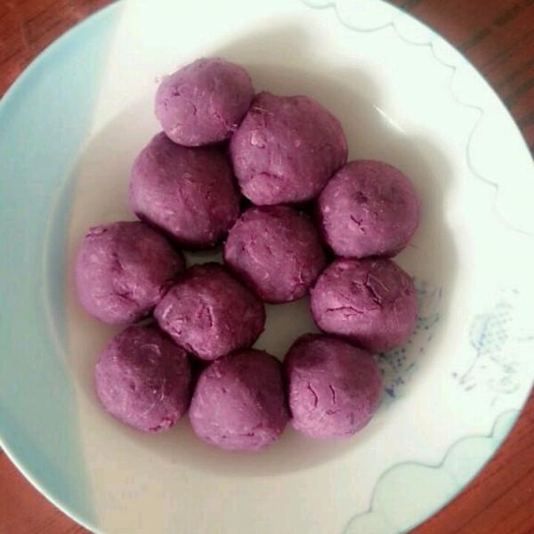 夏天阳光做的紫薯球的做法