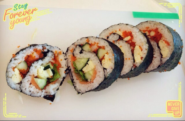 小米困困做的寿司卷的做法