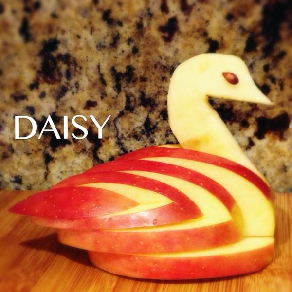 能量 ゞ做的 苹果天鹅 手把手教你拼盘装饰 的做法 豆果美食