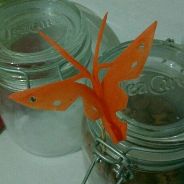 丹丹/aiq做的胡萝卜蝴蝶的做法