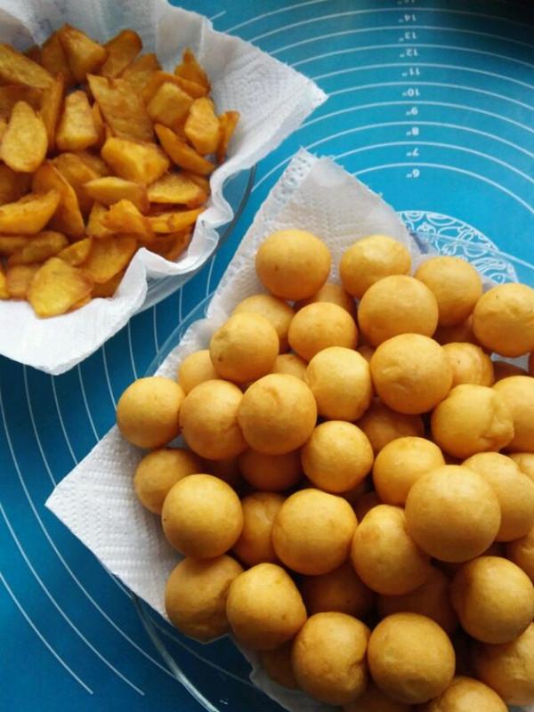 多优妈妈的#儿童甜品#炸红薯球做法的学习成果照