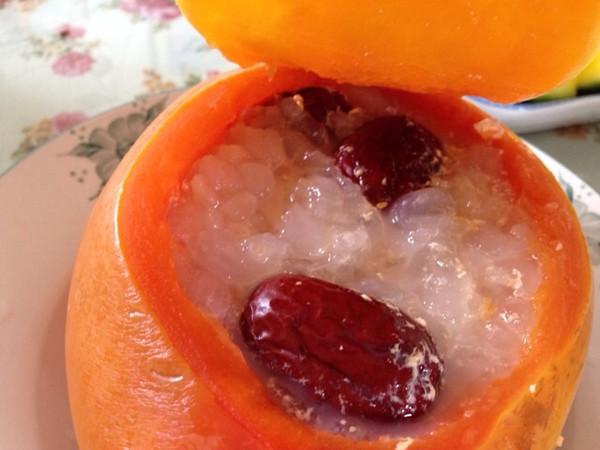 旻天的椰汁木瓜炖雪蛤做法的学习成果照