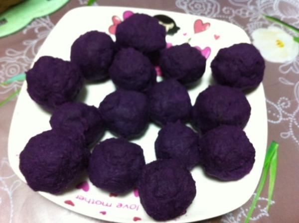 排骨大仙做的奶香蜂蜜紫薯球的做法