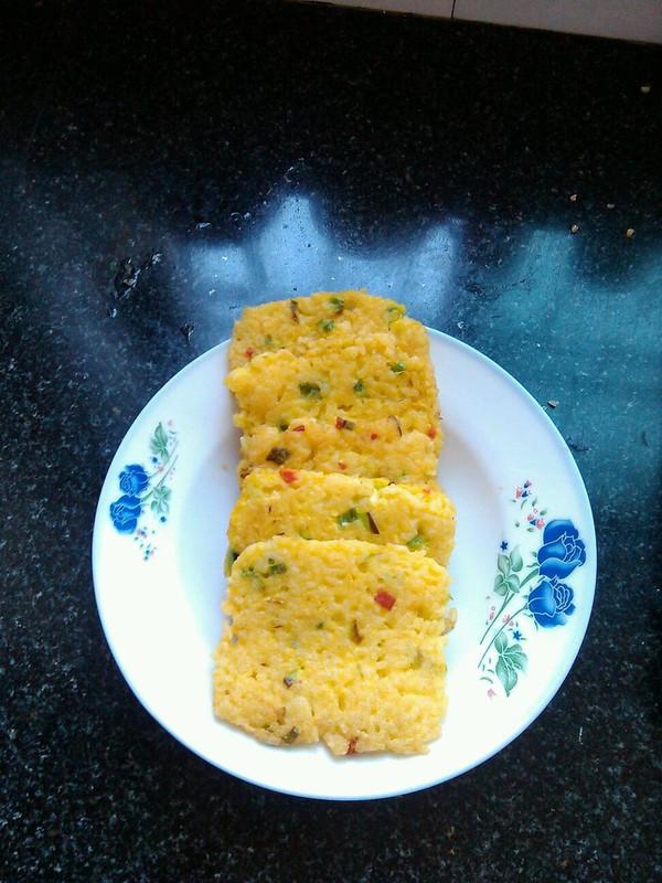 张小嘟的鸡蛋米饭饼做法的学习成果照
