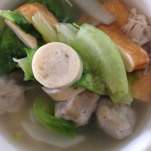 兰芯1做的青菜鱼丸汤的做法