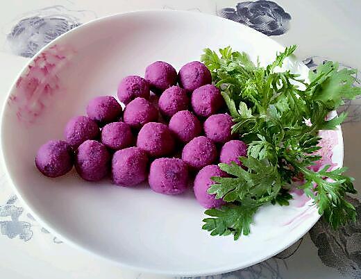 merrymiss做的奶香蜂蜜紫薯球的做法
