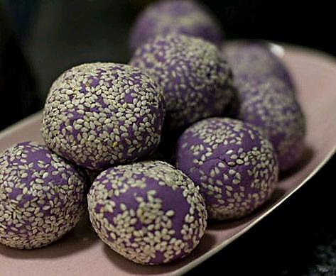 吃货做的紫薯球的做法