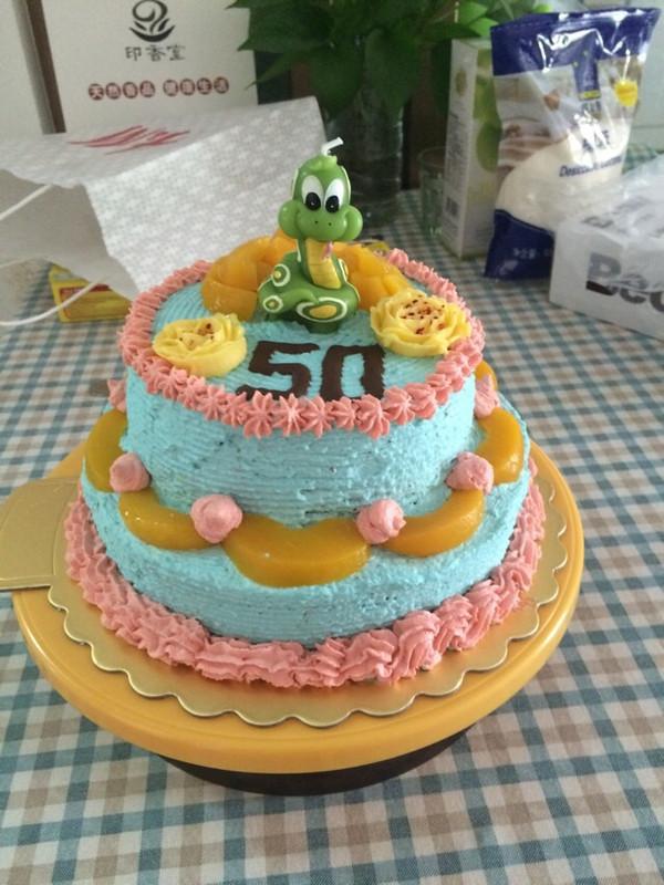 飞雪娃娃的生日蛋糕花式制作做法的学习成果照
