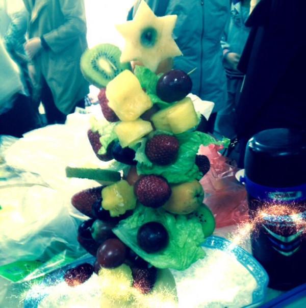 酸果果2008做的水果圣诞树的做法
