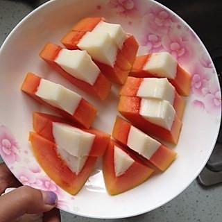 木瓜牛奶冻的做法