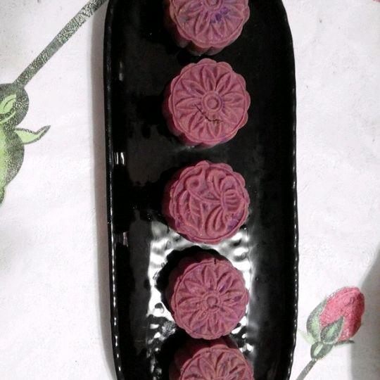 紫藤文风做的紫薯糕(紫薯月饼)的做法_豆果美食
