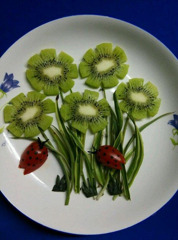 茂名做的奇异果水果拼盘绿牡丹附猕猴桃巧剥皮方法的做法 豆果美食