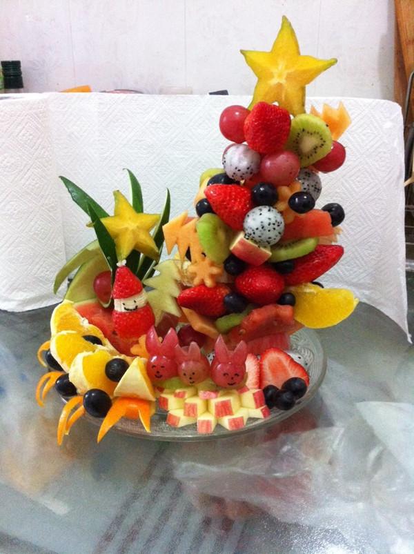 supertiti的水果圣诞树做法的学习成果照