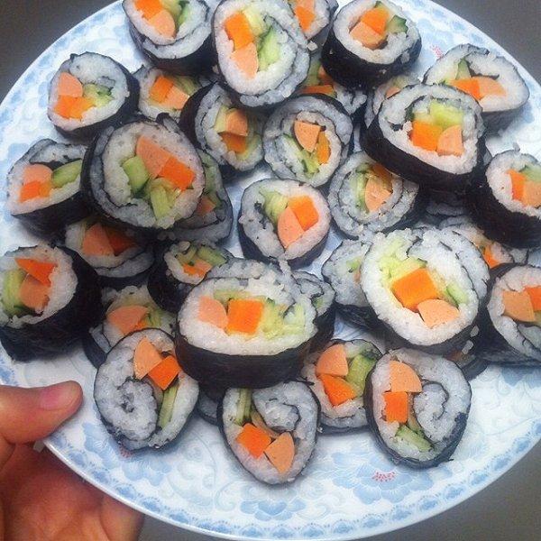 m做的可爱寿司的做法