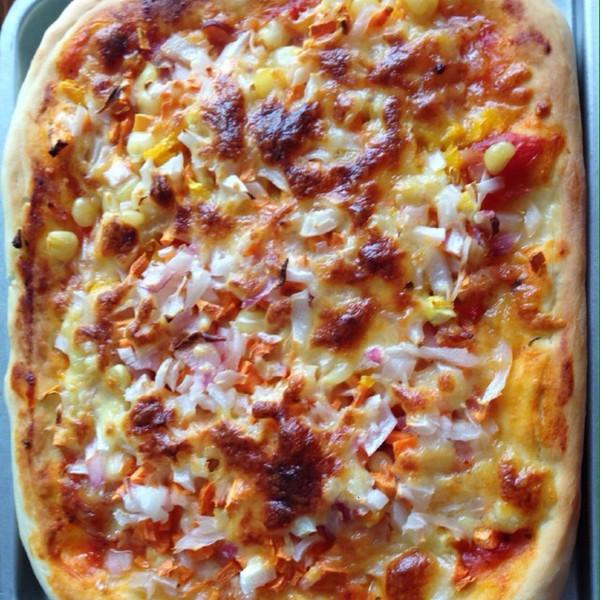 ningning1987lf的方形培根香菇披萨(附披萨酱)做法的