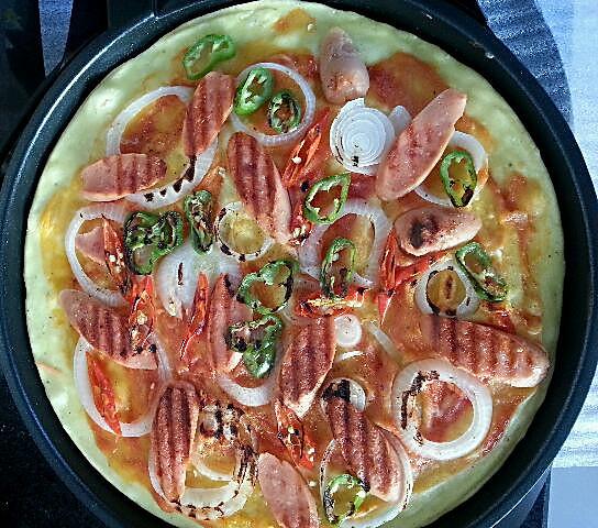 ﹌爱ゆ儍呱の的电饼铛披萨的做法做法的学习成果照
