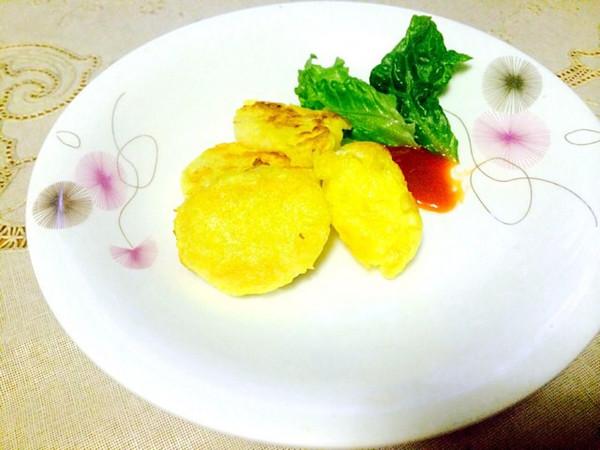 白饼做的蛋香煎馒头片的做法_豆果美食