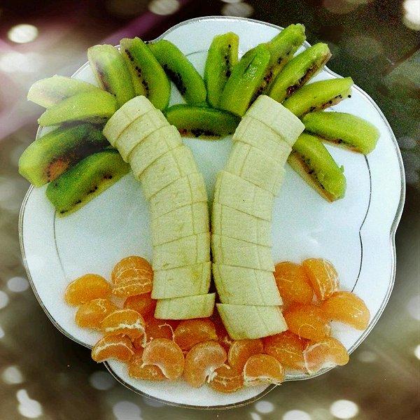 快乐涵涵的创意水果拼盘做法的学习成果照