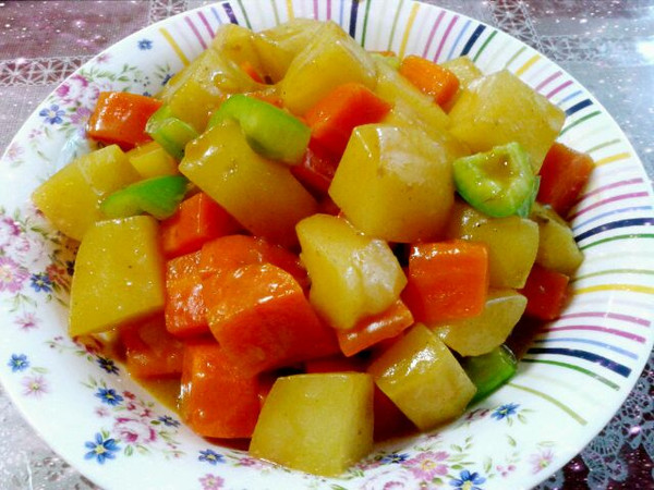 木子阿猪的咖喱土豆杂蔬做法的学习成果照_豆果美食
