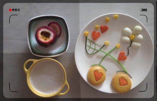 铵哥baby做的宝宝创意营养童趣早餐的做法图片