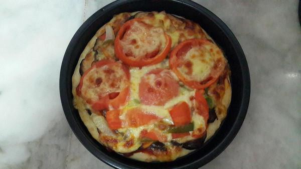 妞妈6的方形培根香菇披萨(附披萨酱)做法的学习成果