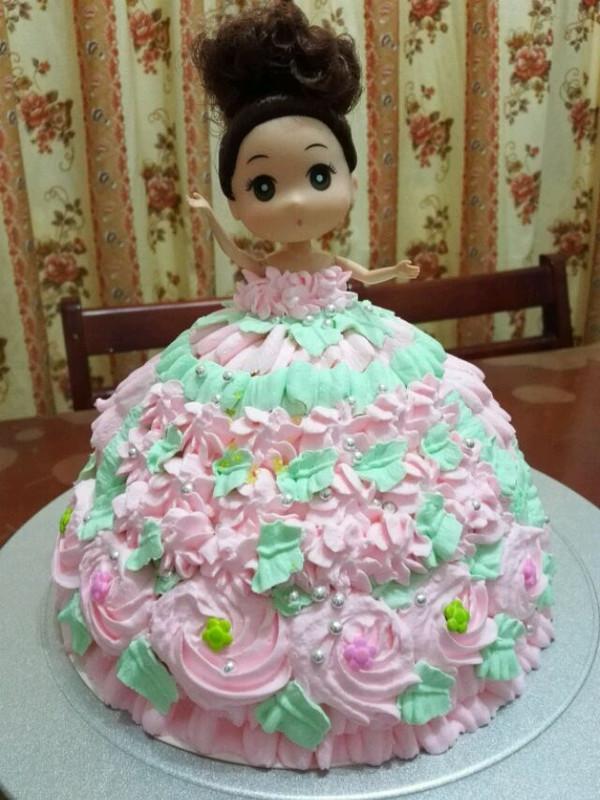 晨辰可心妈的迷糊娃娃公主蛋糕做法的学习成果照