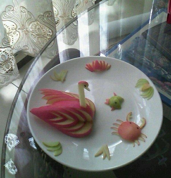 小猪姨麻麻的水果拼盘做法的学习成果照