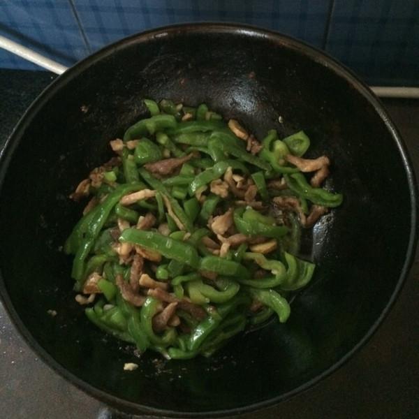 不倾城不可爱的青椒肉丝做法的学习成果照_豆果美食
