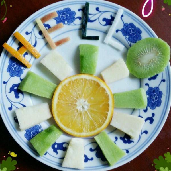 轩辕杂草做的水果拼盘的做法