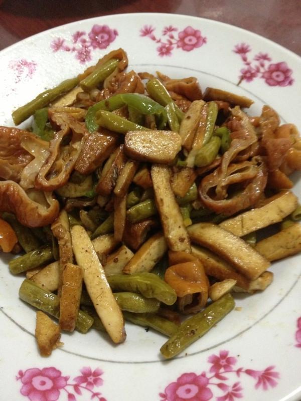 苏打绿绿的酸豆角炒肥肠做法的学习成果照