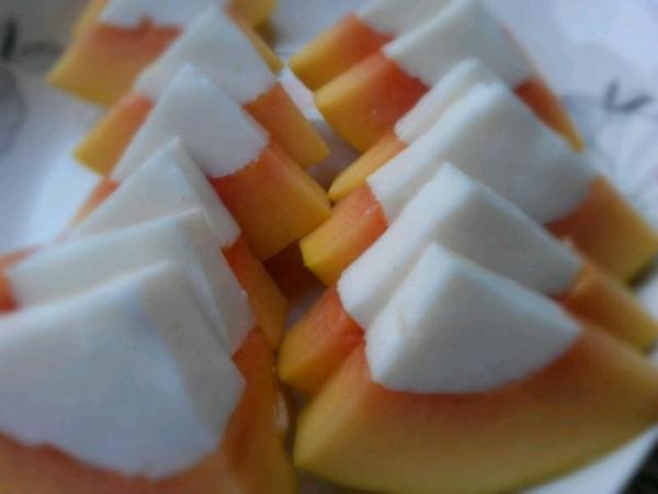 伊一-20120917的牛奶木瓜布丁冻做法的学习成果照