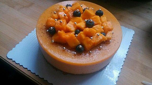 annanannan88的芒果慕斯蛋糕六寸做法的学习成果照_豆果美食