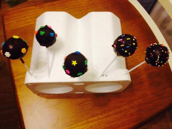 紫畔清寒~★做的棒棒糖蛋糕的做法