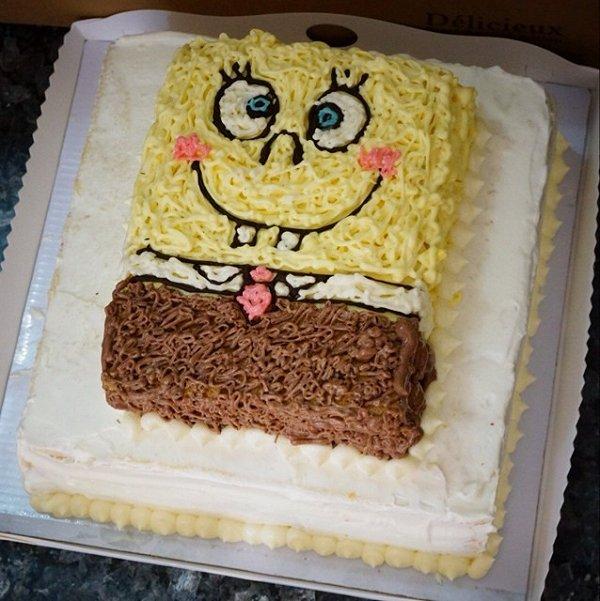 双层海绵宝宝蛋糕