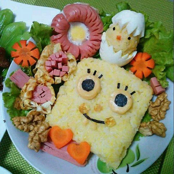 糖糖_甜入心做的海绵宝宝饭团的做法_豆果美食
