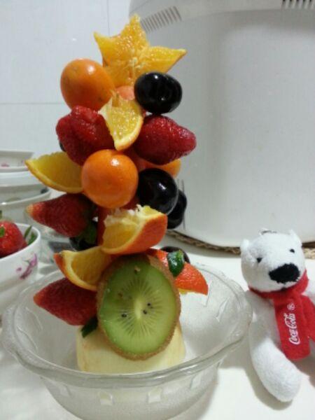 only1~做的水果圣诞树的做法