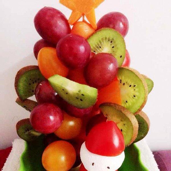 过儿乖的水果圣诞树做法的学习成果照