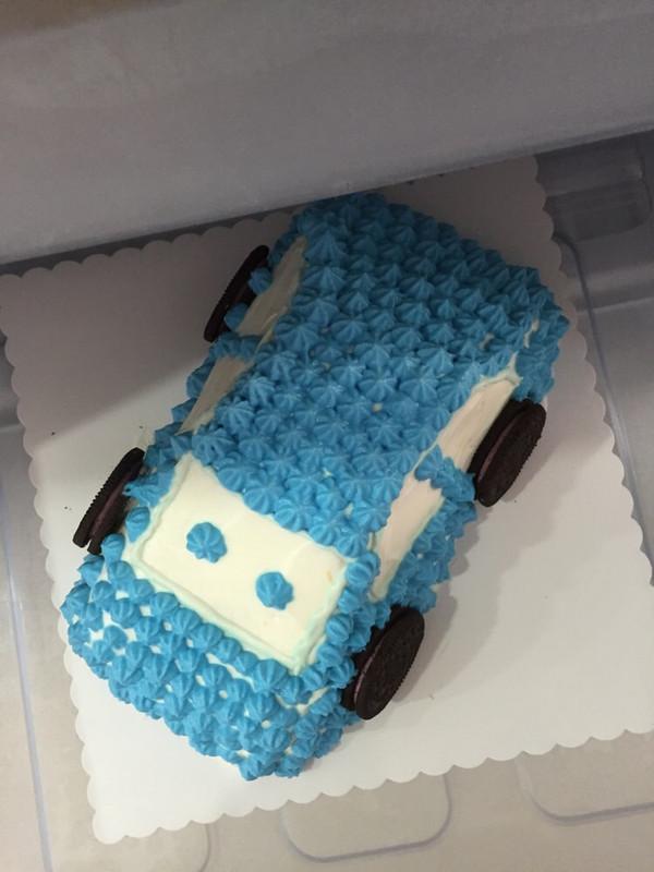 绍兴向日葵的卡通汽车蛋糕做法的学习成果照