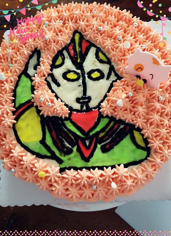 蛋糕盘绘画动物装饰图