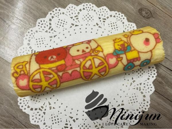 mini裙的手绘轻松熊蛋糕卷做法的学习成果照