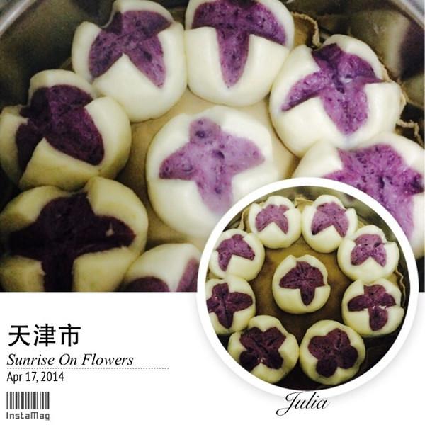 simon麻麻做的紫薯开花馒头的做法