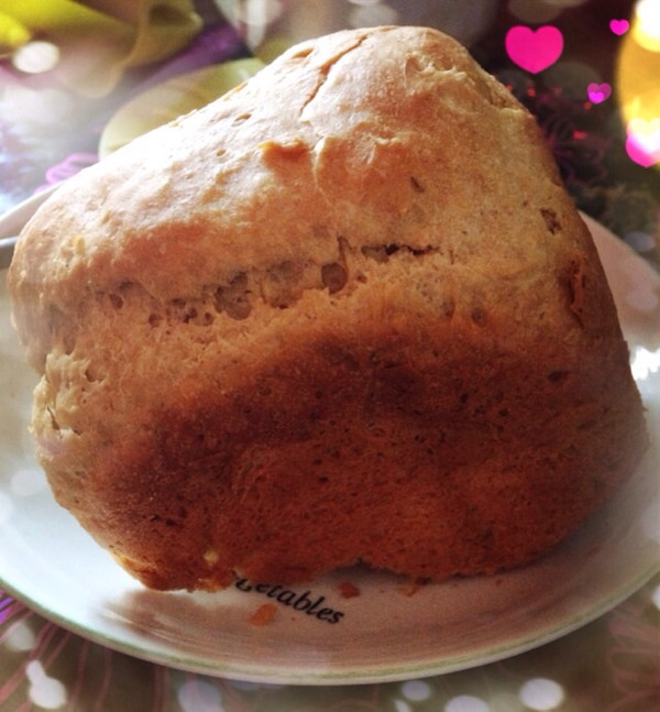 dl2119做的面包机版快速制作全麦面包的做法