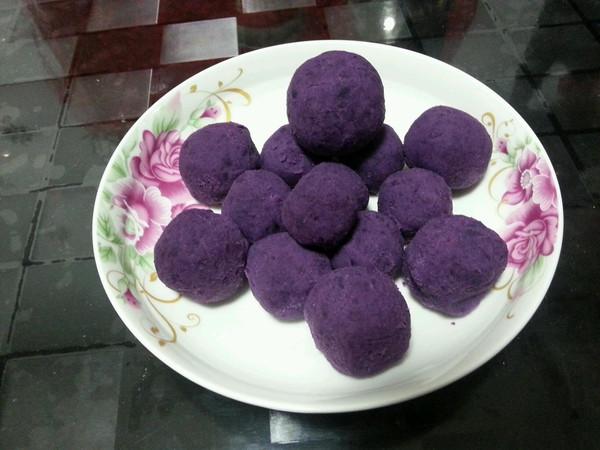 ∩*)一一做的奶香蜂蜜紫薯球的做法