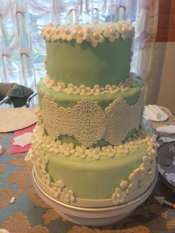 萌萌兔子萌萌兔子的大白翻糖蛋糕做法的学习成果照